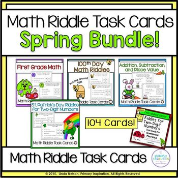 Riddles for Two-Digit Numbers ~ Spring Bundle!