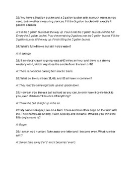 Riddles for students