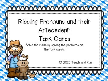 Riddling Pronouns and their Antecedent Task Cards