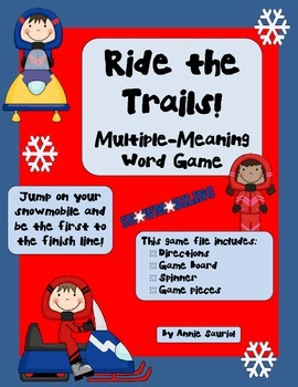 Ride the Trails w/ Multiple Meaning Words Game! Sentence Writing Context Clues
