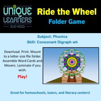 Ride the Wheel Folder Game Phonics Consonant Digraph wh