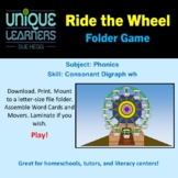 Ride the Wheel Folder Game Phonics Consonant Digraph wh