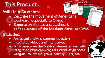 Ridgway US History #24: Manifest Destiny, Oregon Trail, & Mexican-American War