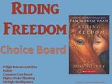 Riding Freedom Choice Board Novel Study Activities Menu Bo