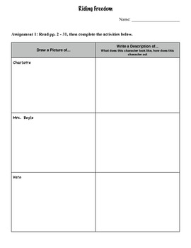 Riding Freedom Comprehension Packet