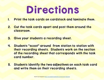 Riding Freedom (Journeys Lesson 16, 4th Grade) ADJECTIVES Task Cards / Scoot