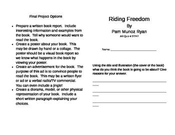 Riding Freedom Literature Unit