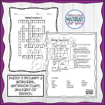 Riding Freedom (Muñoz Ryan) Crossword Puzzles
