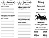 Riding Freedom Trifold - Journeys 4th Grade Unit 4 Week 1 (2014, 2017)