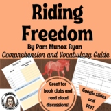 Riding Freedom by Pam Munoz Ryan Comprehension Questions and Vocabulary Guide