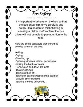 Riding the Bus - Behavior Management/Review (NO PREP)
