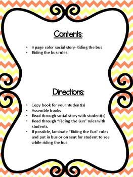 Riding the Bus Social Story & Rules