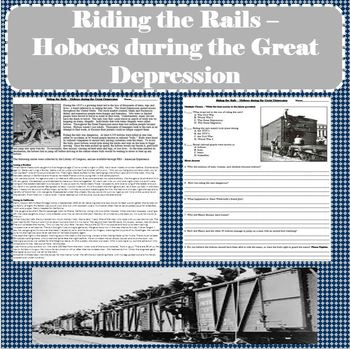 Riding the Rails - Primary Source Passage of Hoboes during the Great Depression