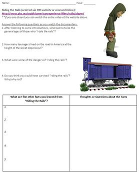 Riding the Rails Video Worksheet