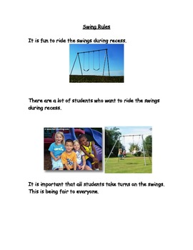 Riding the Swings Social Story