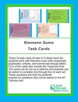 Calculus:  Riemann Sum Task Cards