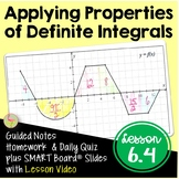 Calculus Properties of Definite Integrals with Lesson Vide
