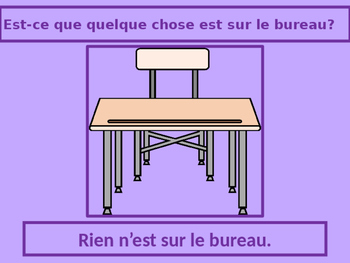 Rien et Personne French Negatives PowerPoint