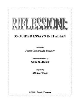 Riflessioni-35 Guided Essays in Italian