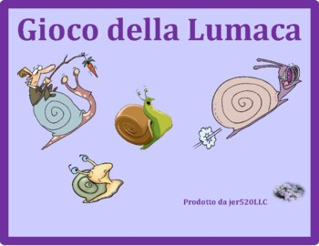 Rifornimenti di scuola (School objects in Italian) Lumaca Snail game