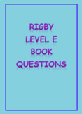 Rigby Level E comprehension questions
