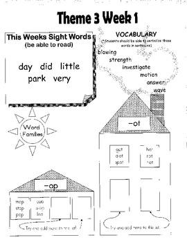 Rigby Literacy By Design Voc & Sight Words Theme 1-4