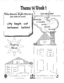 Rigby Literacy By Design Voc & Sight Words Theme 13-16