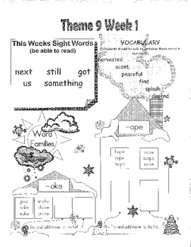 Rigby Literacy By Design Voc & Sight Words Theme 9-12