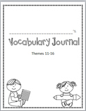 Rigby Literacy By Design Vocabulary Journal (Theme 11-16)