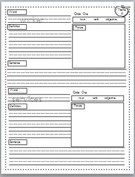 Rigby Literacy By Design Vocabulary Journal (Theme 6-10)