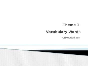 Rigby vocabulary theme 1