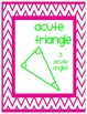Right, Acute, Obtuse Triangle Posters