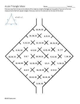 Right, Acute, and Obtuse Triangle Mazes