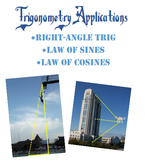Right-Angle Trigonometry, Law of Sines, Law of Cosines Application Problems