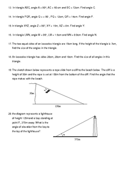 Right Angled Trigonometry