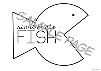 Right Angles Activity - Paper Craft Fish