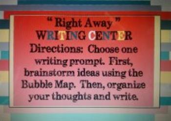"""""""Right Away"""" Writing Center Grades 2-4, ESOL / ESL / ELL"""