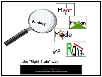 """Right-Brain"" Mean, Median, Mode, and Range"