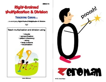 Right Brained Multiplication & Division Teaching Cards