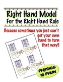 Right Hand Model Freebie for Right Hand Rule - Physics
