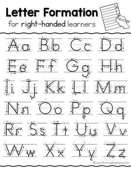 Right-Handed Handwriting Pages