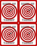 Right On Target Game Plus Minus Add Subtract less more 1 5 10