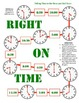 Right On Time - A 2-Player Game to Practice Telling Time to Hour and Half Hour