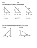 Right Tri Trig (Next lesson!) going from finding angles to
