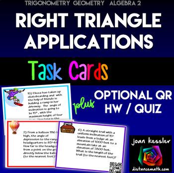 Trigonometry  Algebra 2  Right Triangle Applications  Task
