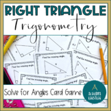 Right Triangle Find Angles with Trig-Game of War