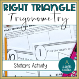 Right Triangle Find Sides with Trig- Stations