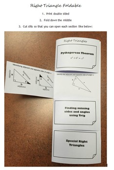 Right Triangle Foldable