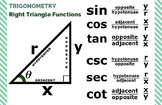 "Right Triangle Functions [TRIG] - Classroom Poster 11"" x 17"""