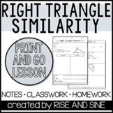 Right Triangle Similarity Notes/Proof/Practice